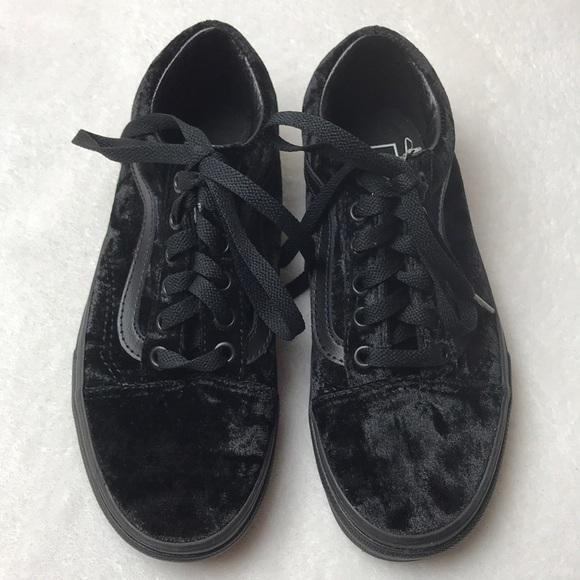9871750ff66 Vans Old Skool Velvet Black unisex shoes